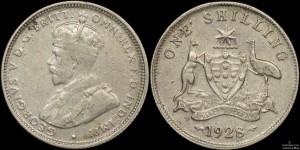 Counterfeit Australian 1928 Shilling