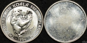 Uniface Facsimile Half Ounce 1994 Platinum Koala