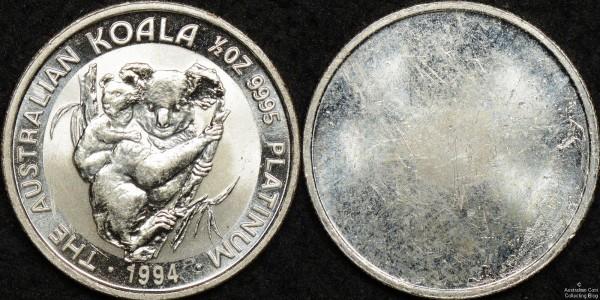 Facsimile 1994 Half Ounce Koala - Silver Plated Copper