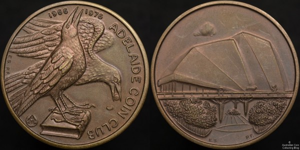 Adelaide Coin Club Medallion 1966-1976 (Image courtesy of Australian Coin Collecting Blog)