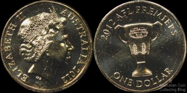2012 AFL Premiers Dollar (Image courtesy of Australian Coin Collecting Blog)