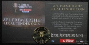 2012 AFL Dollar Coin in Corporate Gift Packaging
