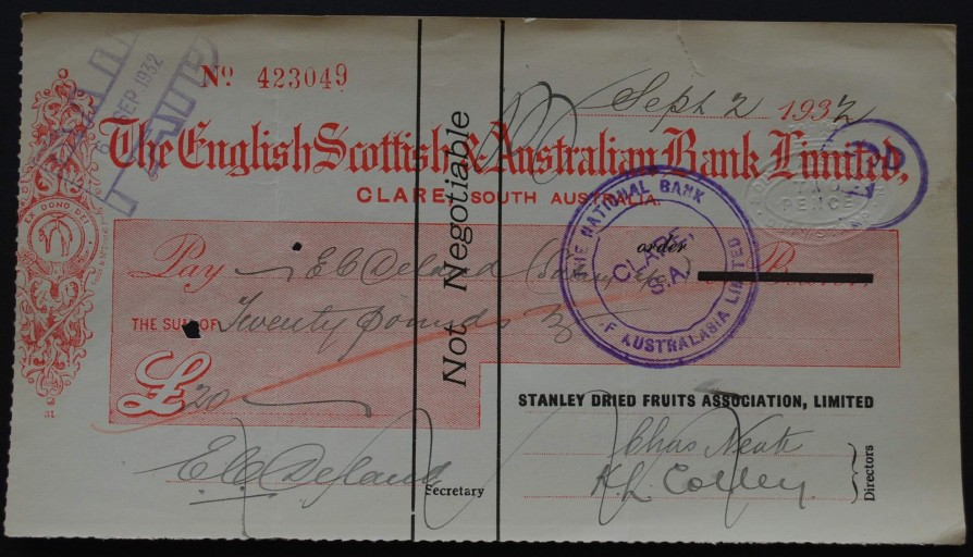 1932 Cheque