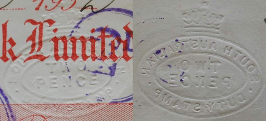 Embossed Cheque -closeup