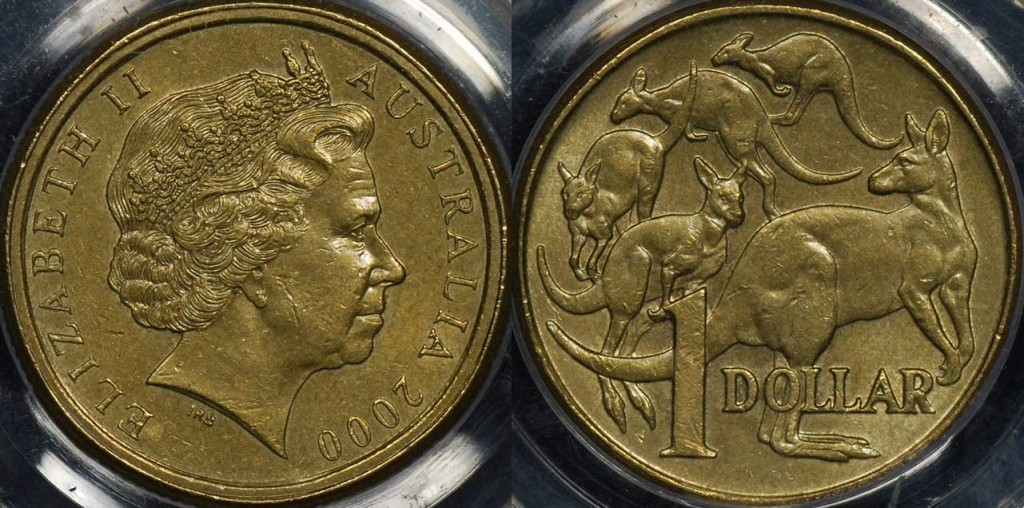 Australia 2000 Dollar with 10 Cent Obverse
