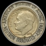 Souvenir 1950 Dime – Irradiated at Oak Ridge Graphite Reactor