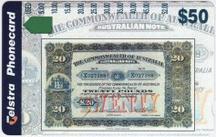 Telstra Pre-Decimal Banknote Phonecards