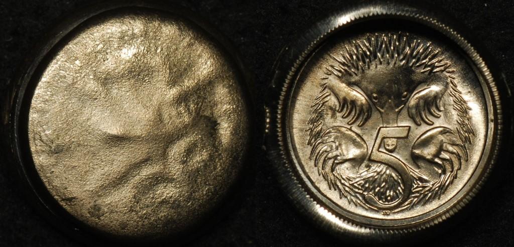 Australian 5 Cent Die Cap