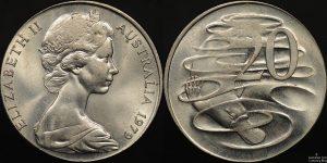 1979 Australian 20 Cent Foreign Planchet Error